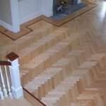 Herringbone Floor with Mahogany