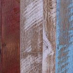 "Antique Oak Distressed Hit/Miss ""Spanish Red"", ""White Hall"", & ""Pool"""