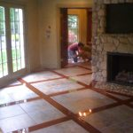 Wood & Tile Custom Floor