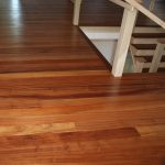 Ribbon-Striped Sapele Floor